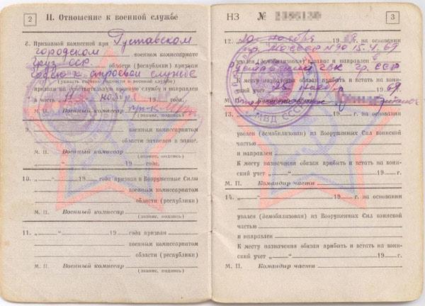 Пример перевода военного билета
